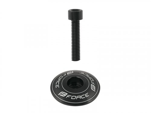Force CNC Ahead Star Nut + Top Cap (black)